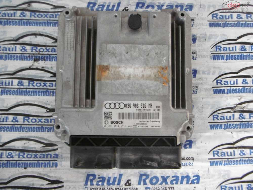 Calculator Motor Audi A6 2 0tdi  cod 03g906016mh/0281014261 Piese auto în Oradea, Bihor Dezmembrari