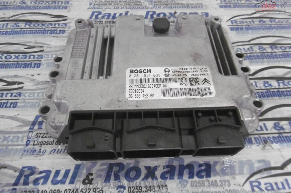 Calculator Motor Peugeot 108 1 6hdi 9hz 2005 cod 0281011633 Piese auto în Oradea, Bihor Dezmembrari