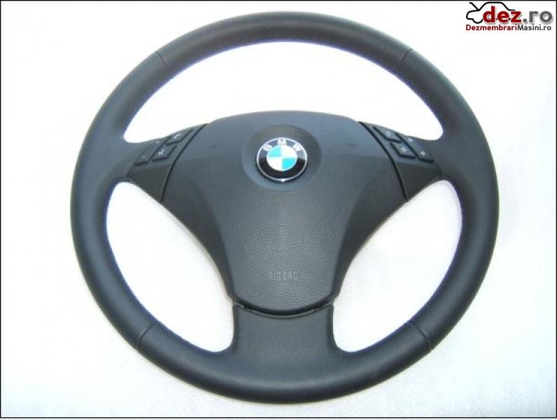 Airbag si volan piele si comenzi    bmw e60 facelift  model 2006  2010  nou     nou  Dezmembrări auto în Aiud, Alba Dezmembrari