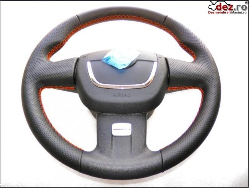 Airbag si volan piele perforata nou cusatura cu rosu skoda vrs3 model 2009... Dezmembrări auto în Aiud, Alba Dezmembrari
