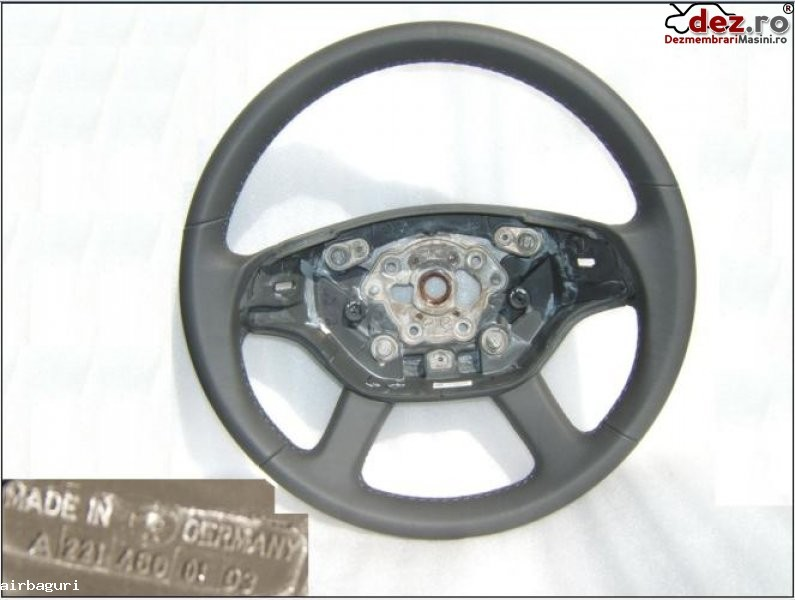 Mercedes benz s cl klasse w221 w216 volan piele nou a221 480 01 03 model 2008... Dezmembrări auto în Aiud, Alba Dezmembrari