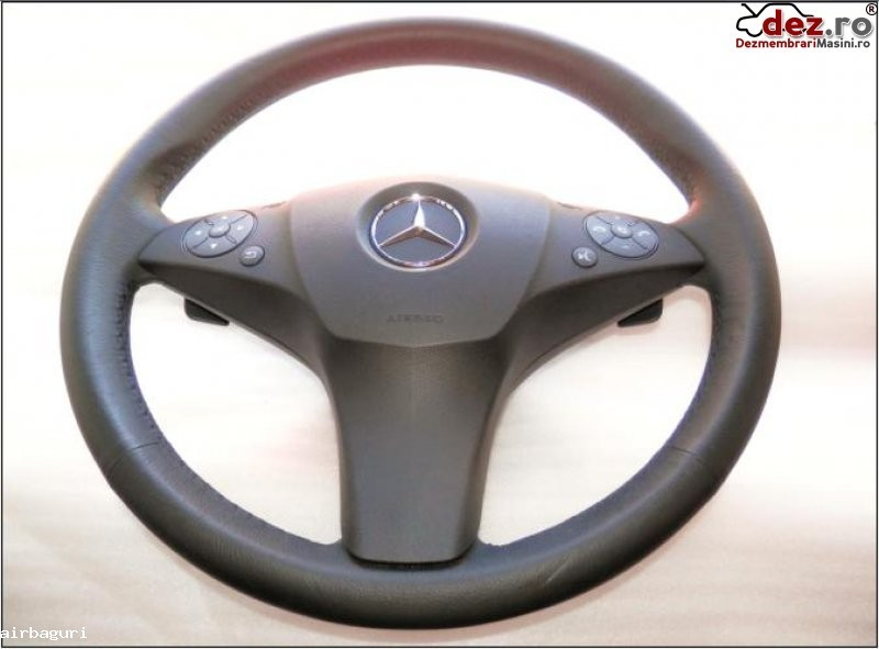 Mercedes c classe w204 volan 3 spite piele + dsg cu airbag model 2007 2011 pret... Dezmembrări auto în Aiud, Alba Dezmembrari