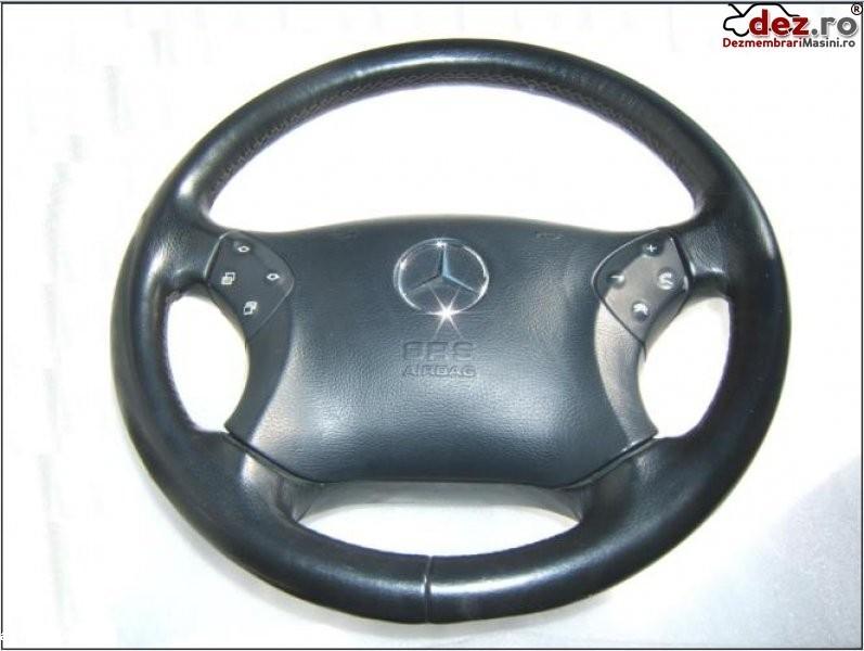 Airbag si volan piele neagra mercedes w203 c classe 2001 2006 impecabil pret Dezmembrări auto în Aiud, Alba Dezmembrari
