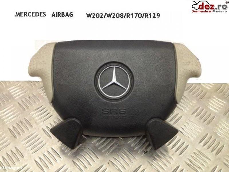 Airbag mercedes slk r170 negru+crem 1997 2000 r129 w208 w202 amg pret 150 e Dezmembrări auto în Aiud, Alba Dezmembrari