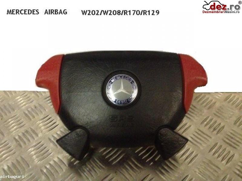 Airbag Mercedes Sl 320 R129 Negru+rosu Model 1996 > 1998 Dezmembrări auto în Aiud, Alba Dezmembrari