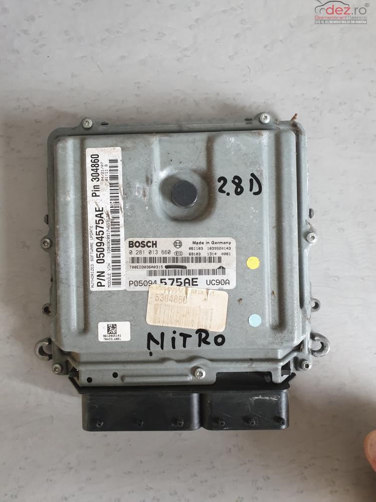 Calculator Motor Dodge Nitro 2 8crdi 2008 cod 0281013660 , 05094575AE Piese auto în Cosereni, Ialomita Dezmembrari