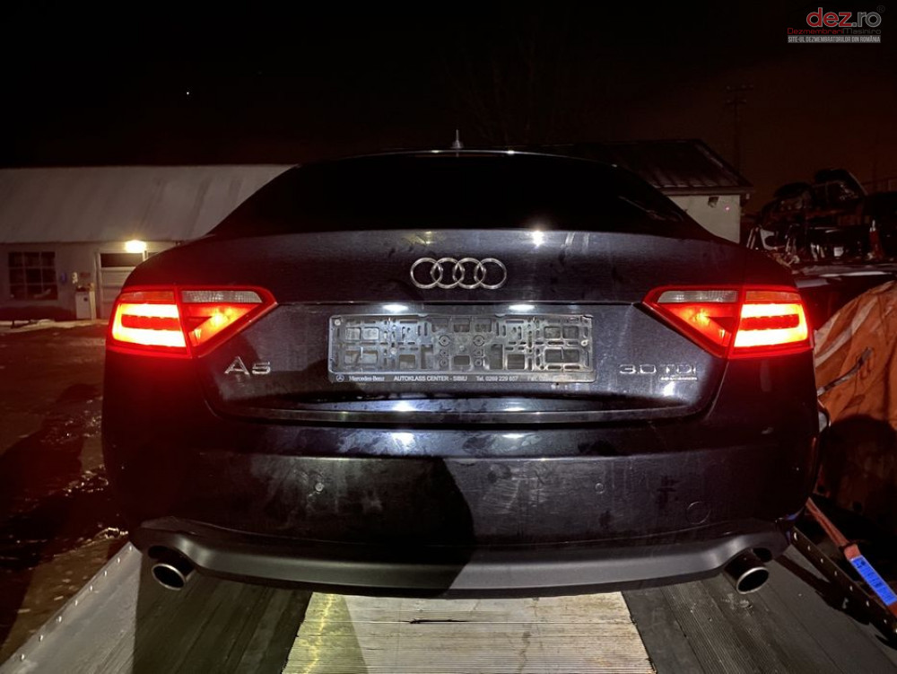 Bara Spate Cu Senzori Parcare și Evacuare Dubla Audi A5 8t 2008 Lz9y Piese auto în Sebes, Alba Dezmembrari