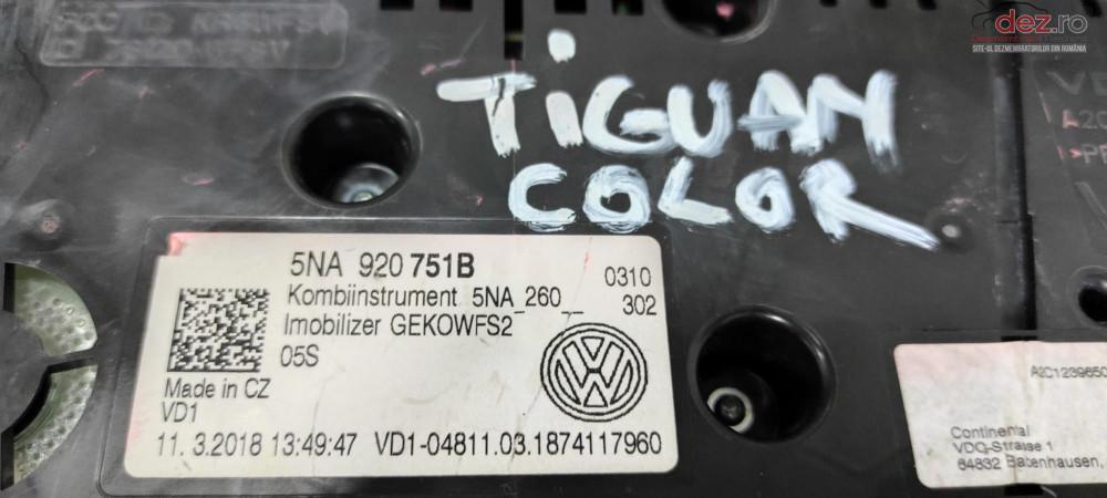 Ceas Color Tiguan Ceas Bord Original Ceasuri Volkswagen Vdo cod 5NA920751B