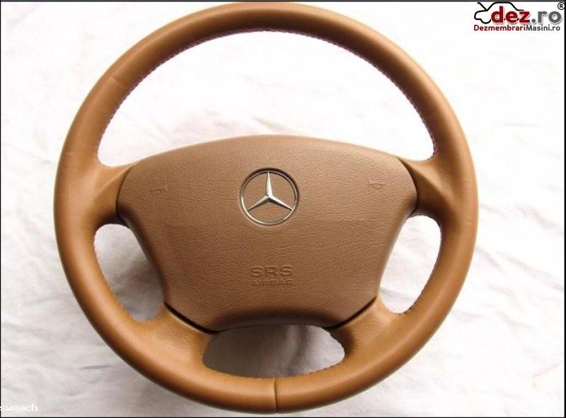 Airbag si volan piele maro mercedes w163 ml model 1997 2005 nou pret 350 euro Dezmembrări auto în Aiud, Alba Dezmembrari