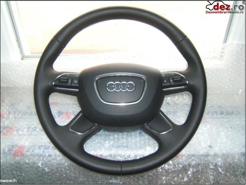 Volan piele si comenzi cu airbag  audi a1  a3  a4  a5  q5  a6  a7  a8 model 2012  201x  Dezmembrări auto în Aiud, Alba Dezmembrari