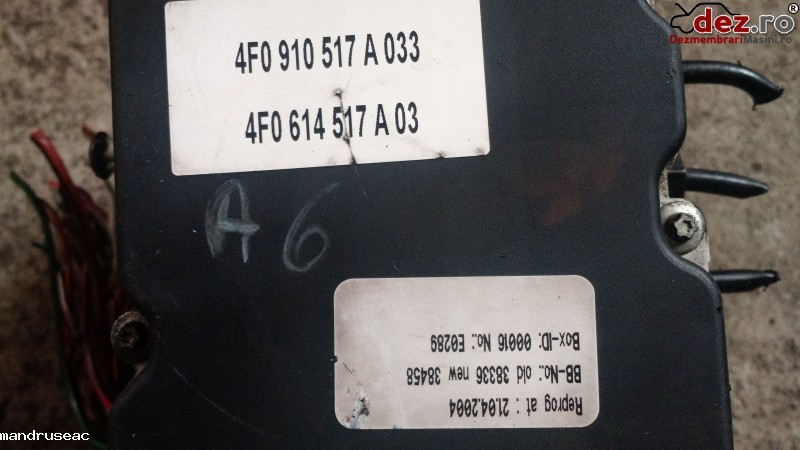 Pompa ABS Audi A6 2006 cod 0265234111 , 4F0910517A