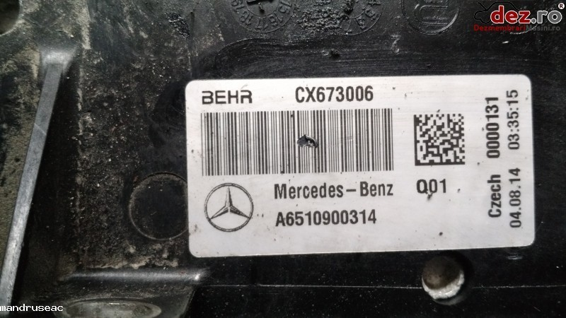 Radiator intercooler Mercedes C-Class 2014 cod A6510900314 , CX673006