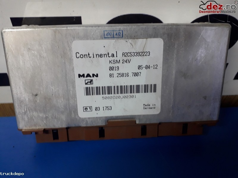Calculator KSM MAN TGX Dezmembrări camioane în Cristesti, Mures Dezmembrari