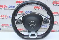 Volan Din Piele Cu Comenzi Mercedes C Class W205 2014 Prezent cod A0004603303 Piese auto în Alesd, Bihor Dezmembrari