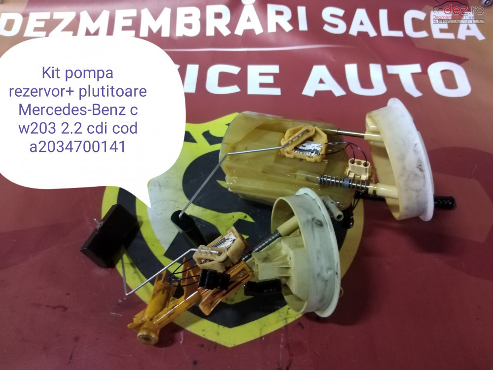 Pompa Motorina Din Rezervor Mercedes Benz W203 2 2 Cdi Cod A2034700141 cod A2034700141 în Suceava, Suceava Dezmembrari