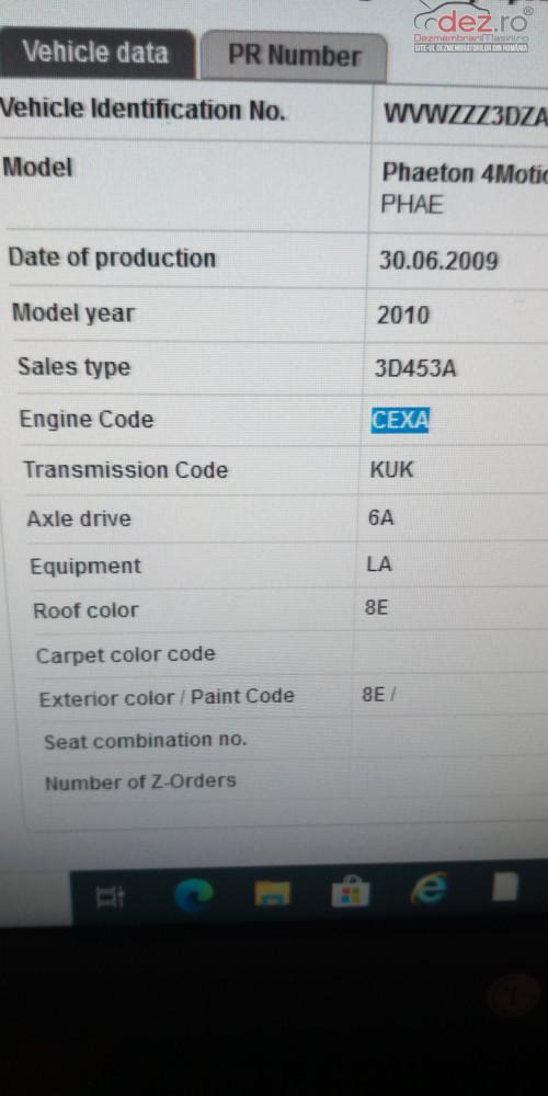 Dezmembrez Vw Phaeton 3 0 Tdi V6 Cexa Euro 5 Dezmembrări auto în Timisoara, Timis Dezmembrari