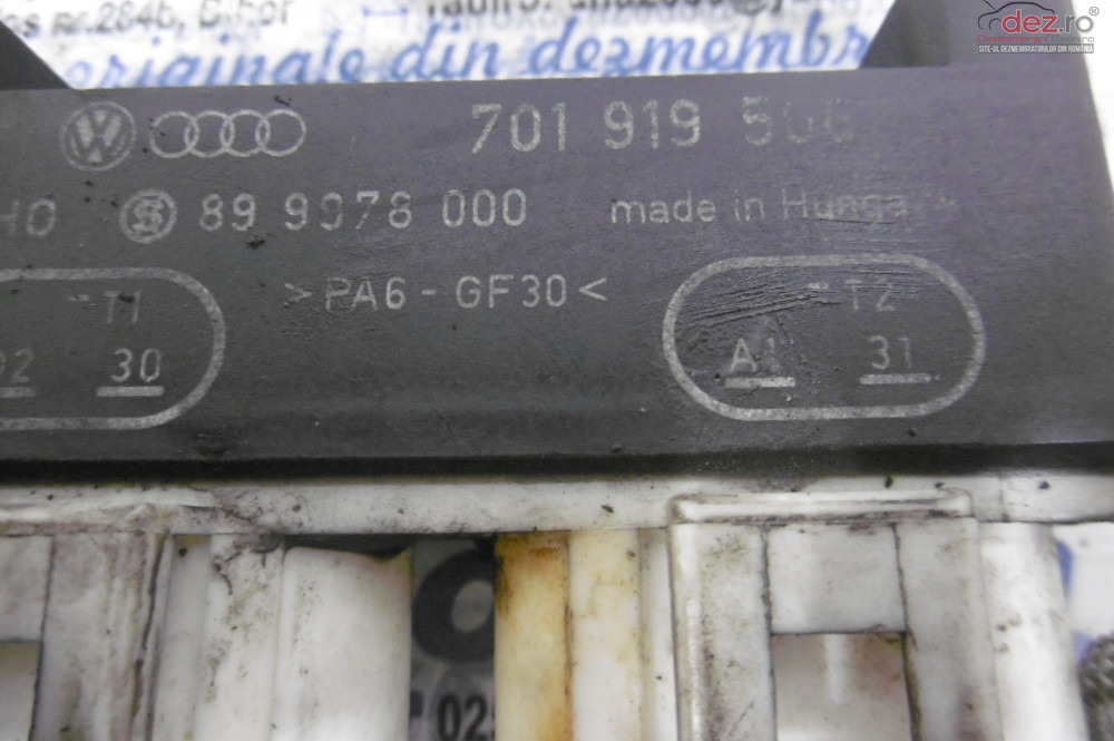 Releu Ventilator Ford Galaxy 1 9tdi  cod 701919506 Piese auto în Alesd, Bihor Dezmembrari