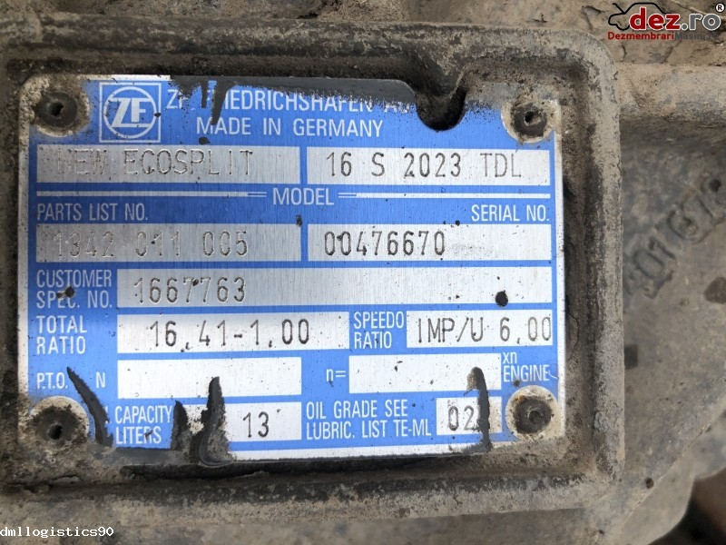 Cutie viteze DAF XF  Dezmembrări camioane în Albeni, Gorj Dezmembrari