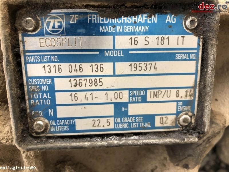 Vand cutie viteze manuala DAF XF cu retarder / intarder - 2005 Dezmembrări camioane în Motru, Gorj Dezmembrari