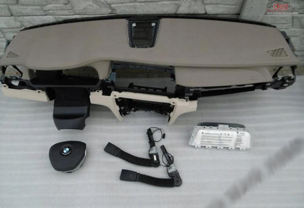 Kit Plansa Bord Cu Airbag Bmw 7 F01 Piele Beige Piese auto în Zalau, Salaj Dezmembrari